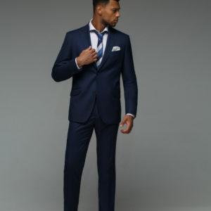 CARTER Мужской костюм синий однотонный.